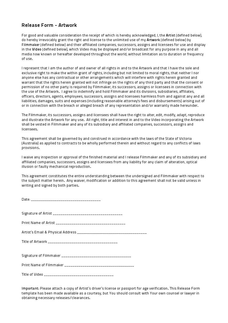 artist release form - solarfm.tk